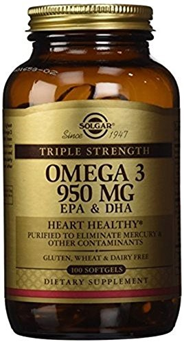 Solgar Triple Strength Omega 3 950mg - Pack of 100 softgels