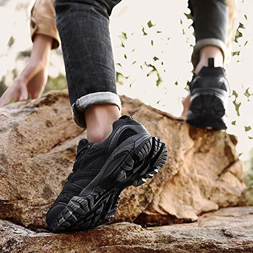 Zapatillas Trekking Hombres Calzado Mujer Senderismo Montaña Deportivas Trail Running Deporte Zapatos Antideslizante Ligeras Respirables Unisex Nero 39