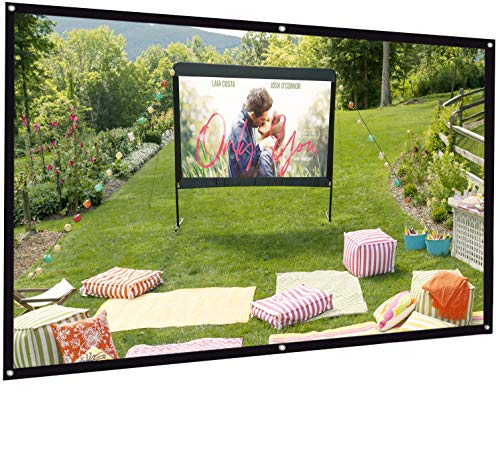 Projector Screen, Bomaker 100 inch Projection Screen 16:9 HD Foldable Anti-Crease Portable Washable Projector Screen, Ideal for Home Theater Outdoor Activities Supports Double Sided Projection