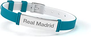 Pulsera Real Madrid Club de F/útbol Fashion Negra Junior para Mujer y Ni/ño Pulsera de silicona y acero inoxidable Producto Oficial.