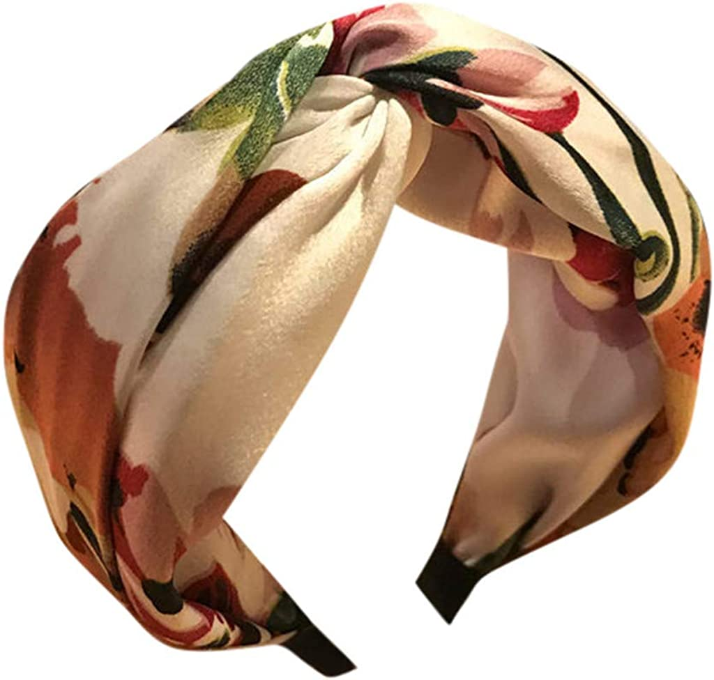 YOMXL Women's Vintage Floral Print Twist Cheap mail order specialty store Stretchy Mail order cheap Hair Headband