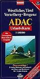 Westl. Tirol, Vorarlberg, Bregenz, GPS-genau (ADAC UrlaubsKarten) -