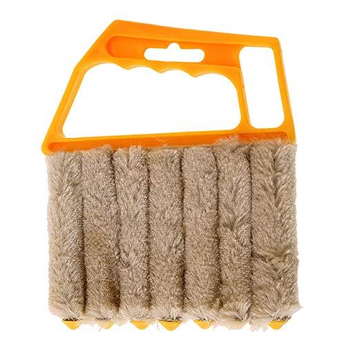 laoonl 7 cepillo cabeza eliminación de polvo herramienta de limpieza hogar cepillo persianas limpiador aire acondicionado polvo colector cinturón