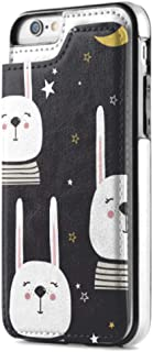 Iphone7 /iphone8 Wallet Case with Card Holder Premium Pu Leather, Rabbits Backdrop Colorful Double Magnetic Claspwallet