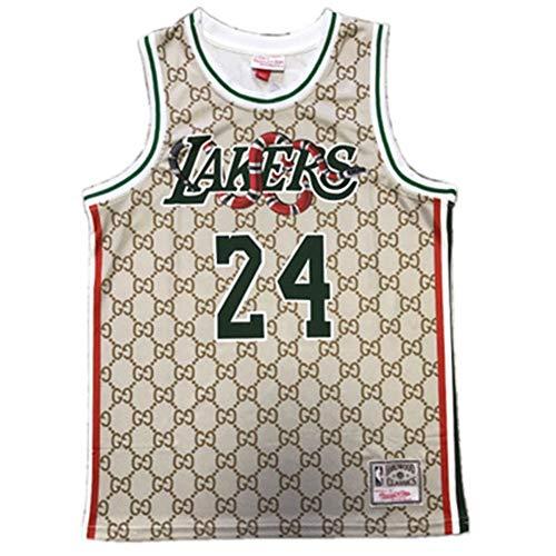 lfly Kōbè Bry Jersey Lakers #24 - Maillots de baloncesto para hombre, 90S Hip Hop ropa para fiesta de jersey, Halloween y vida diaria (S-XXL) XXL