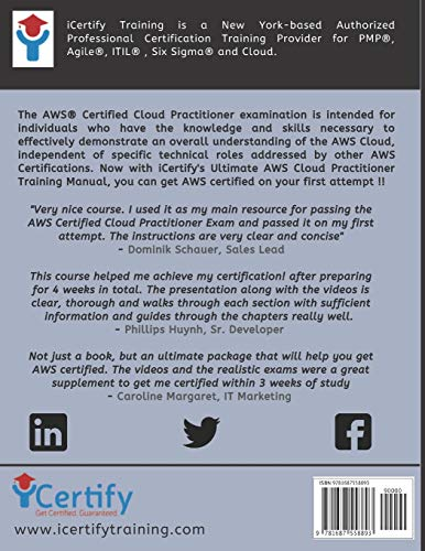 The Ultimate AWS® Certified Cloud Practitioner Training Manual: Includes 30+ videos and 400 Qs to get you certified !!