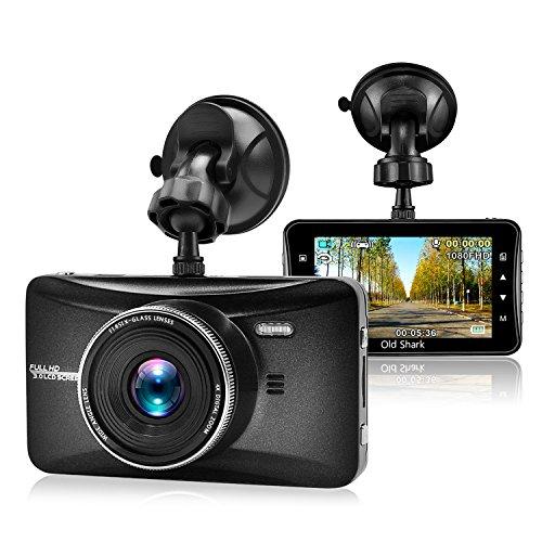 Cámara para coche, OldShark HD 1080P gran ángulo de 170° Dashcam Cámara con G-sensor Grabadora De Detección De Movimiento, Visión Nocturna