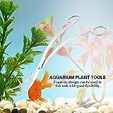 XiangXin Tijeras de Acuario fáciles de operar, Herramienta de Recorte Herramientas de Plantas de Acuario, Buena flexibilidad Tijeras de Plantas Uso de Acuario(Wave Shear)