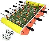 Piarner Automático de puntuación Mini Futbolín 6 Multi-Player de Escritorio Juguetes Entre Padres e Hijos de Ocio Interactivo Entretenimiento Juguetes Mini portátil Futbolín (Color : Yellow)