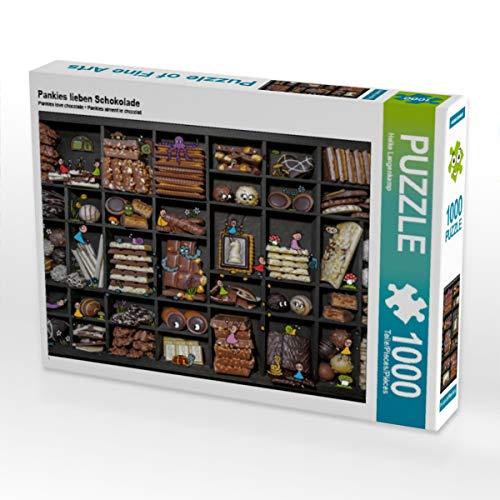 CALVENDO Puzzle Pankies lieben Schokolade 1000 Teile Lege-Größe 64 x 48 cm Foto-Puzzle Bild von Heike Langenkamp