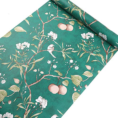 Taogift Papel de pared de vinilo autoadhesivo rústico rústico con diseño floral para paredes, aparador, cajones, armarios, decoración extraíble e impermeable