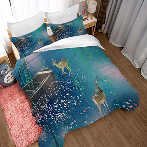 GSYHZL QueenPrinted BeddingDuvet Cover ,Beach 3d super king-size bed bedding set, teenager bedroom double bed printed duvet cover and pillowcase-C_200*229cm(3pcs)