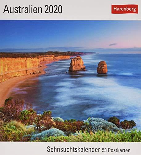 Australien Postkartenkalender 2020. Wochenkalendarium. Blockkalender. Format 16 x 17,5 cm