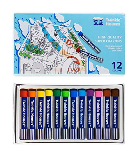 Non Toxic Crayons For Kids Ages 48 Junior amp Professional Artists Soft Oil Pastels For Kids 12 Vibrant Assorted Colors For Kids Indoor Activities At Home School Supplies Gifts For Kids