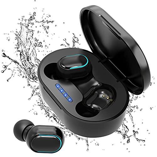 Auriculares Bluetooth, Auriculares Inalámbricos Bluetooth, Auriculares con Cancelación de Ruido, Cascos Inhalabricos In Ear de IPX7 Impermeables, USB Carga Rápida Reproducción de 24H Control Tactil