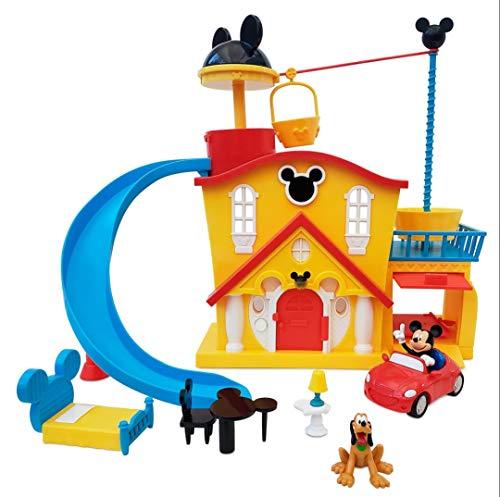 DS Disney Store Set da Gioco Grande Casa di Topolino con Accessori E Personaggi Mickey Mouse E Pippo Casetta Giocattolo Originale
