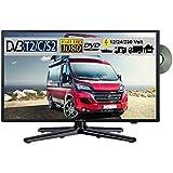 Reflexion LDDW22 LED Fernseher 21.6 Zoll 56cm SAT TV DVB-S2/C/T2 DVD 12/230 Volt