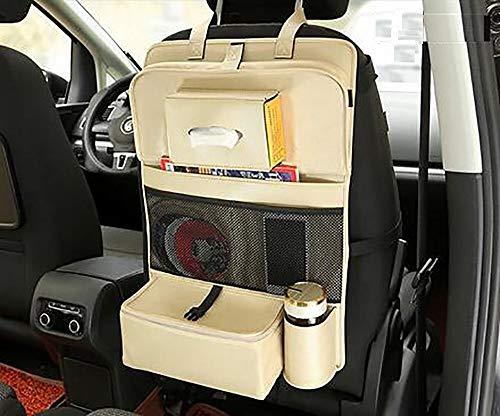 Lawo Opbergtas voor de autostoel, multifunctionele opvouwbare tablet, rugzak hangen, opvouwbare opbergtas, auto met elektrische verwarming en isolatiefunctie, houdt de stoel schoon