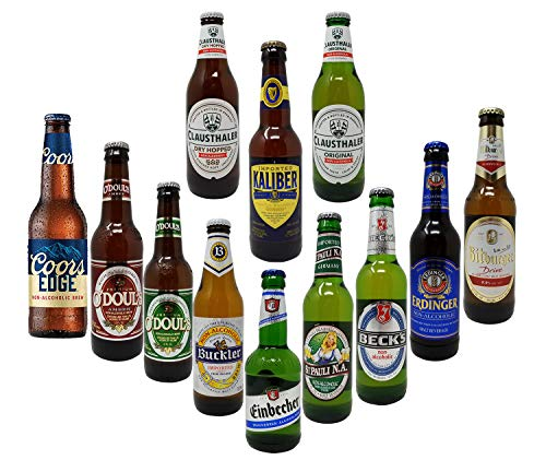 Non-Alcoholic Beer Variety Pack, Beck's, Bitburger, Buckler, Clausthaler Premium and Amber, Coors, St. Pauli Girl, Einbecker, Erdinger, Kaliber, O'Doul's Premium and Amber (Case Of 12)