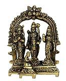 "eSplanade Brass Ram Darbar (Rama,Sita,Laxman,Hanuman) Murti Idol Statue Sculpture (5.5"") … (5.5"" Ram Darbar)"
