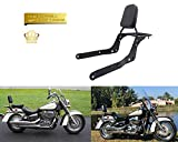 Motorcycle Sissy Bar Backrest + Luggage Rack cushion pad For Honda Shadow Aero 750 VT750C 2004-2018