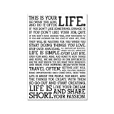 FACAIA The Holstee Manifesto Poster This is Your Life Canvas Painting Art Print Modern Wall Picture for Living Room Home Decor-60x80cm No Frame