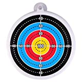 Abaodam Funny Archery Target for Kids Wall Hanging 24CM/ 10In Practical Plastic Target Bow Skill Target Games Target Ring Target for Indoor & Outdoor Toys Archery
