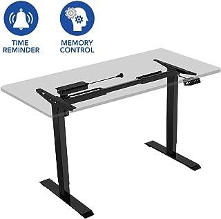 Flexispot EN1B Height Adjustable Desk Frame Electric Sit Stand Desk Base Home Office Stand up Desk(Black Frame)