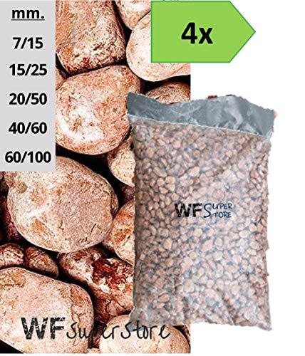 WUEFFE S.R.L. Ciottoli di Marmo Rosso Verona - 4 Sacchi da 25 kg - Sassi Pietre Giardino (15/25)