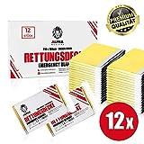 [page_title]-ALPHA MEDICAL® - 12 Stück - Premium Rettungsdecke Gold/Silber im Vorteilspack - 210 x 160cm - Erste Hilfe Decke - Aludecke - Notdecke - Wärmefolie