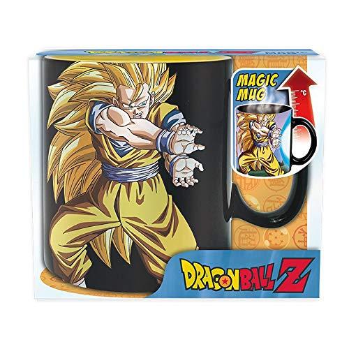 Dragonball - Tasse - Son Goku - Super Saiyajins - Kamehameha - Thermoeffekt Mug 460 ml - Geschenkbox