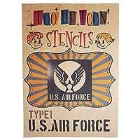 アメリカ軍エンブレムロゴステンシルシート (US AIR FORCE(type1))