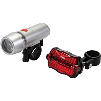 LED Bike Bicycle Light Set Front /& Rear LED Lights for Cyclists Cycling Rolson