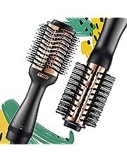 TYMO Hot Air Brush - Ionic Hair Dryer & Volumizer, Professional One-Step Hair Dryer Brush with Enhanced Titanium Barrel, Hair Straightener Brush and Blow Dryer