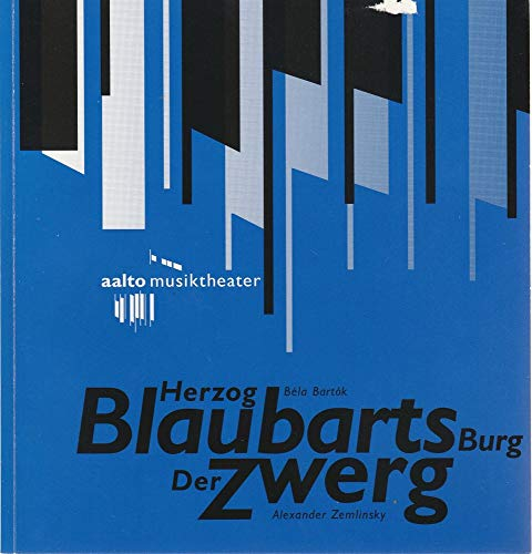 Programmheft HERZOG BLAUBARTS BURG / DER ZWERG Premiere 29 Januar 1994 AALTO Musiktheater Spielzeit 1993 / 94