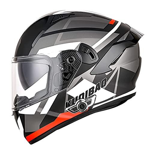 LIRONGXILY Casco Moto Modular Casco Moto Bluetooth Integrado Casco Moto Integral para Hombre Mujer Casco Moto Modular con Doble Visera ECE Homologado (Color : C, Size : 59-60CM(L))