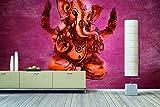 WandbilderXXL Vlies-Fototapete'God Ganesha' 180x120cm - afrikanische Masken und Sugar Sculls. Top Style für Deine 4 Wände. Nur von WandbilderXXL.
