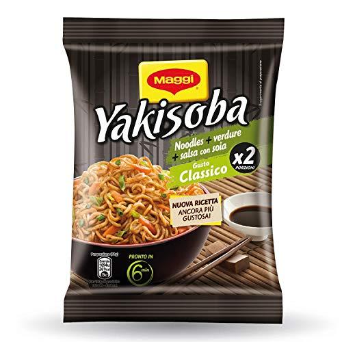 Maggi Yakisoba Gusto Classico Noodles Istantanei con Verdure e Salsa con Soia - 120 g