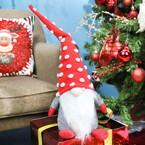 Super Holiday Gnome Handmade Swedish Tomte, Christmas Elf Decoration Ornaments for Holiday Party, Xmas, Home Decor(23 Inches)