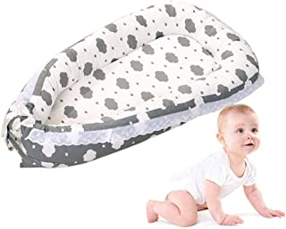 Newborn Lounger Hamkaw Portable Baby Bassinet Bed, The All in One Baby Lounger,Perfect for Co Sleeping from 0-36 Months Grey