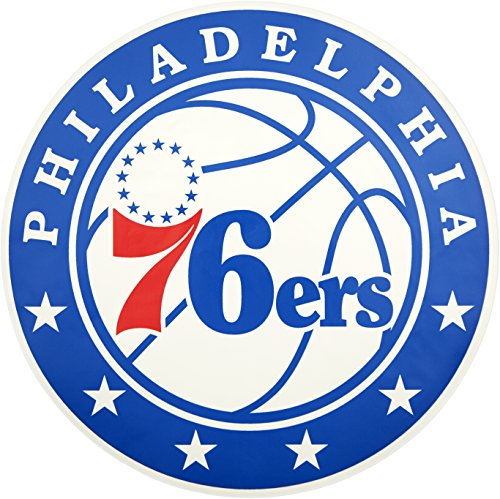 Applied Icon, NBA Outdoor-Aufkleber mit primärem Logo, klein, Unisex, NBA, rot, 12