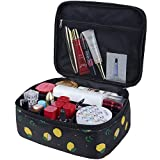 Cosmetic Bags, URBEST Portable Travel Makeup Cosmetic Bag, Organizer Multifunction Case for Women (Black)