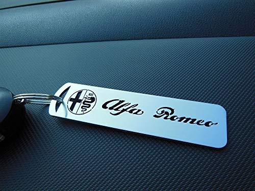 autoCOVR Llavero De Acero para Alfa Romeo - INOX Metal Cepillado Decoración Personalizados Tuning Accesorios