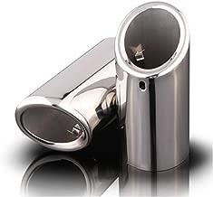 Chrome Stainless Steel Exhaust Muffler Tip Pipes for VW Jetta MK6 Golf Lavida Car Parts Diameter 6-6.2cm