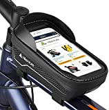 Hikenture Bike Frame Bag for Phone, Waterproof Bike Handlebar Bag, 6.5 Inch Sensitive Touch Screen Top Tube Bike Front Bag, Bicycle Motorcycle Phone Holder for iPhone 7/8/11 Plus XS Max Galaxy S9