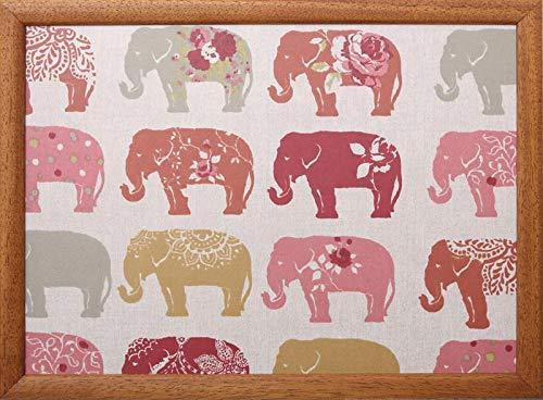 Andrew's Laptray - Vassoio con cuscino per computer portatile, motivo: elefante