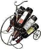 QDY Suporte para garrafa de vinho de Design de Bicicleta para Mesa de vinho Rack para decoração de casa Grande...