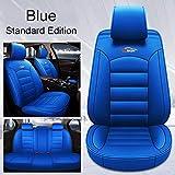 Fundas Asientos Coche Universales para BMW E46 E90 E91 E92 E39 E30 E60 E36 E87 E34 G30 F10 F11 F20 F30 E84 E83 320I 520 X5 E70 E53 Serie 1 3 4 5 6 7 Accesorios Coche-Azul