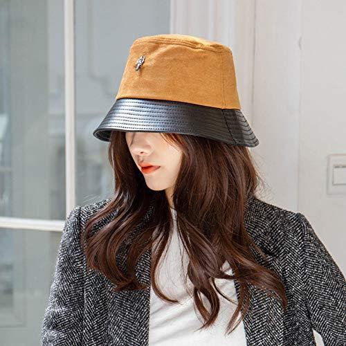 Aibccr Sombrero de Pareja de Moda Estilo Coreano Femenino otoño e Invierno Nueva Sombra de Marea cálido Sombrero de Pescador