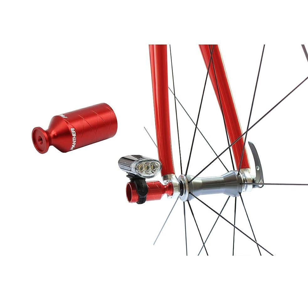 期待本振動させるPANTHER (パンサー) 多色展開 アルミアルマイトカラー 自転車用 超軽量 アクセサリーホルダー ライトホルダー ハブパーツ リアディレーラー保護 ライトアダプター ロードバイク クロスバイク マウンテンバイク クイックリリース搭載自転車に全般対応